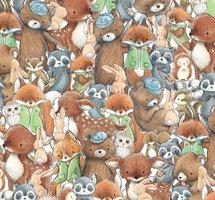 Många djur